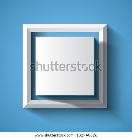 Abstract geometrical background with cube - stock vector