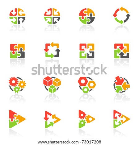 Abstract geometrical icons. Elements for design. Vector illustration. - stock vector