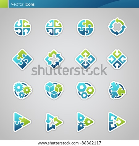 Abstract geometrical icons. Vector illustration. - stock vector