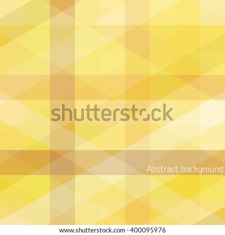 Abstract geometrical pattern with yellow lines intersecting. Graphic vector background - stock vector