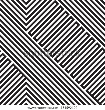 abstract geometrical seamless pattern - stock vector