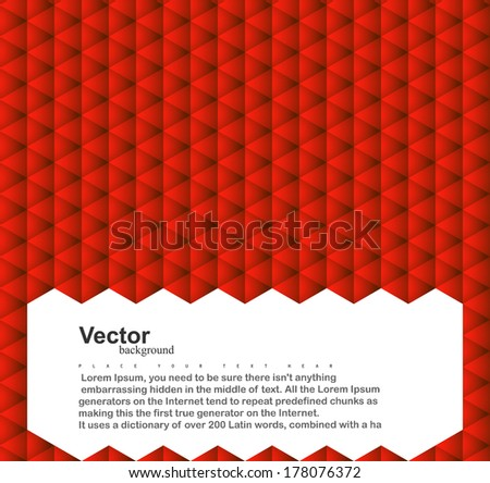 Abstract geometrical triangles texture colorful background and space for your message vector illustration