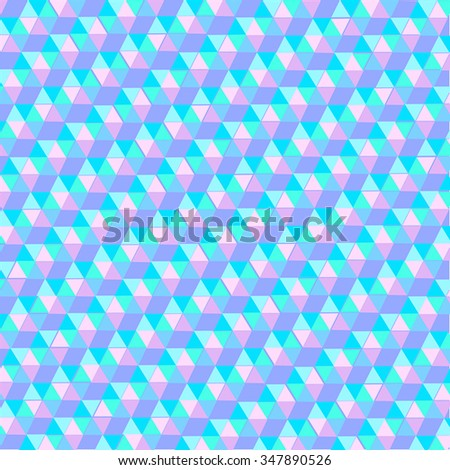 Abstract geometry background  - triangle ornament for use in design. Pink and blue. Vector abstract background. Eps 10.