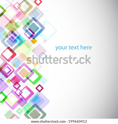 abstract geometry background with rhombus. Vector template for your design - stock vector