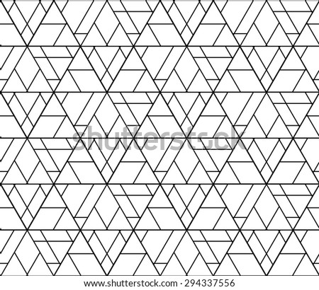 Abstract geometry black and white hipster fashion pillow pattern