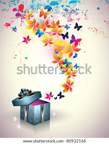 Abstract gift box