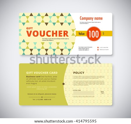 Abstract gift voucher template card business stock vector 414795595 abstract gift voucher template card business voucher card template vector stock cheaphphosting