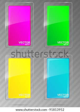 Abstract glass background. Vector illustration. - stock vector