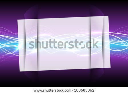Abstract glass frame with magic light , vector illustration, eps10, 3 layers - stock vector