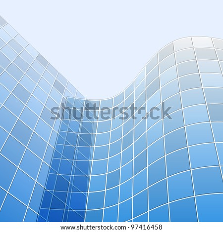 abstract glass skyscrapers, vector illustration
