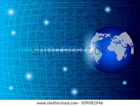 Abstract global technology background