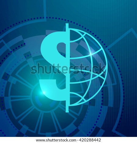 abstract global technology, vector background