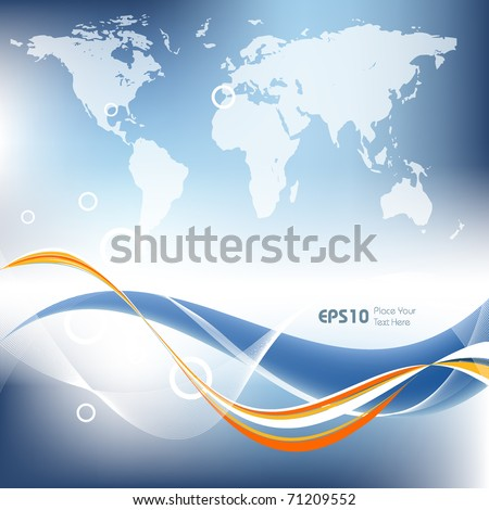 abstract global technology vector background with copy space. Eps10
