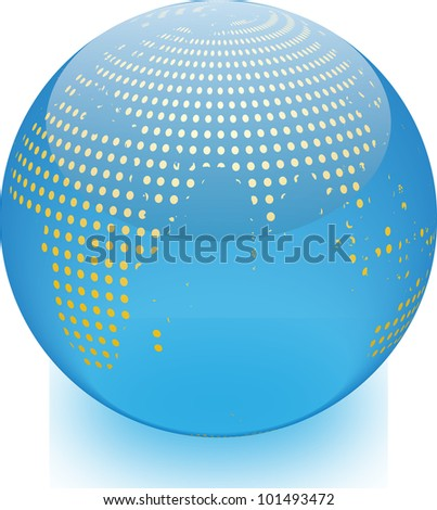 Abstract globe - stock vector