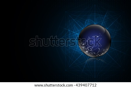 abstract globe digital texture pattern technology innovation concept background