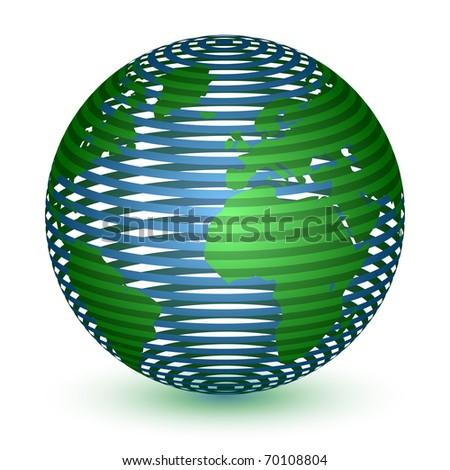 Abstract Globe Icon - stock vector