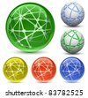 Abstract Globe Icon Set. Communication and Network Concept. Vector Illustration EPS8 - stock vector