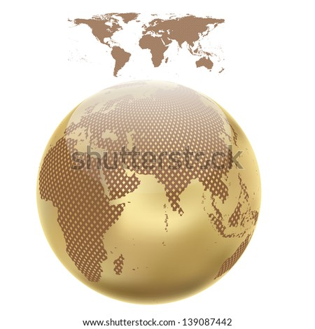 Abstract globe with abstract world map