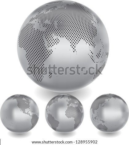 abstract globes - stock vector