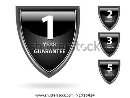 Abstract glossy 3d black speech bubble collection. website elements design elements label set. Vector guarantee tags. - stock vector