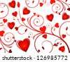 abstract glossy heart background vector illustration - stock vector