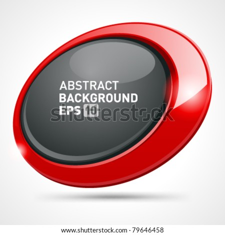 Abstract glossy speech bubble vector background with transparent shadow. Eps 10. - stock vector
