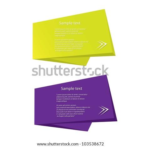Abstract glossy speech bubble. Vector illustration. - stock vector