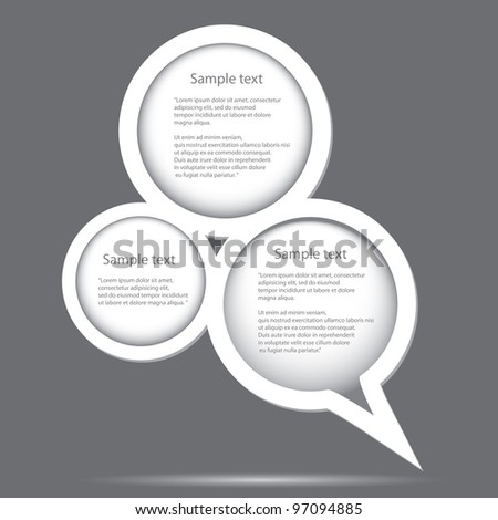 Abstract glossy speech bubble. Vector illustration. - stock vector