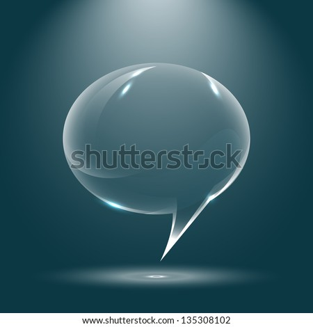 Abstract glossy speech bubbles vector background
