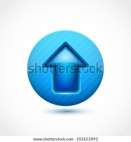 Abstract glossy up arrow vector background for your business website - stock vector