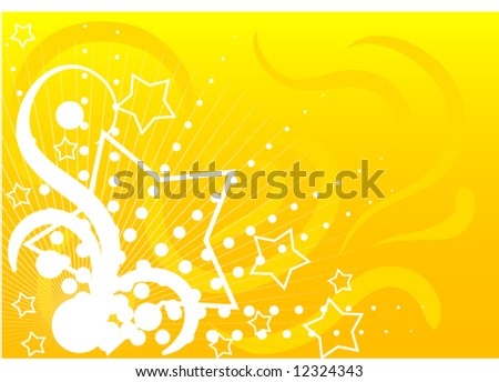 Abstract glossy  vector design illustration with stars background - stock vector