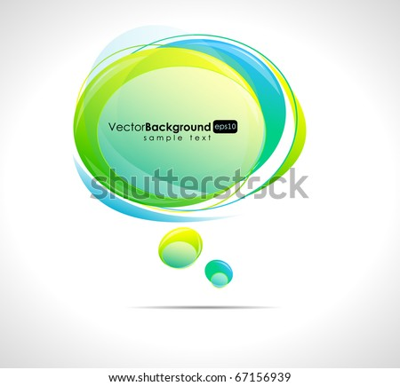 Abstract glossy vector speech bubble - stock vector