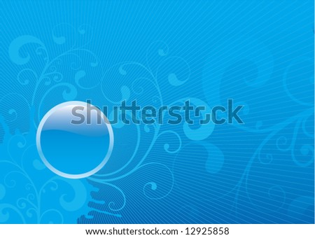 Abstract glossy winter blue vector illustration background - stock vector