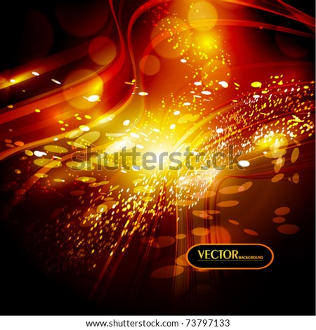 Abstract glow background. Vector - stock vector