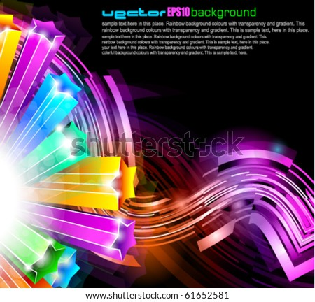 Abstract Glow of Lights with Brilliant colours for stylish flyers - stock vector