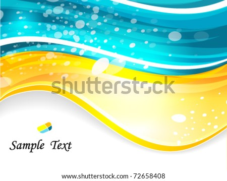 abstract glowing background - stock vector