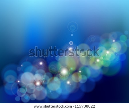 Abstract glowing blue background. Vector illustration - stock vector