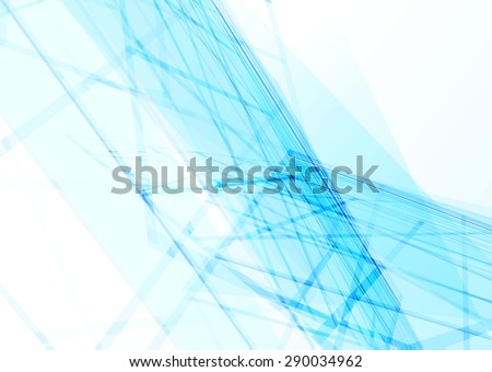 Abstract glowing blue lines - stock vector