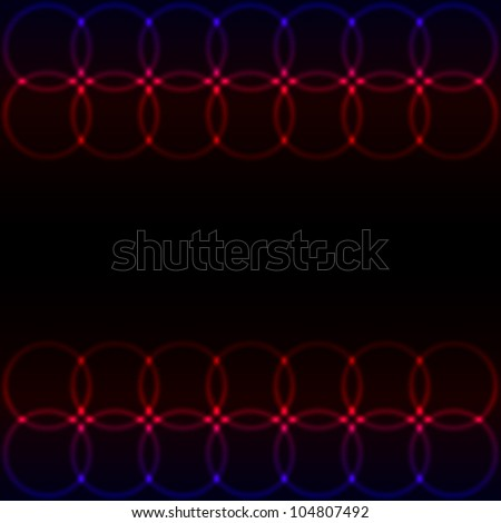Abstract Glowing Circles of llight - stock vector