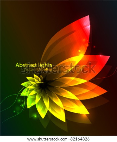 Abstract glowing flower background