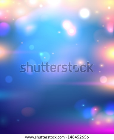Abstract glowing particles background - vector illustration. - stock vector