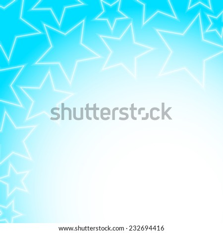 Abstract glowing stars colorful background with copy space