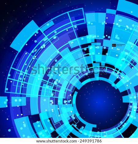 abstract glowing technology background. - stock vector
