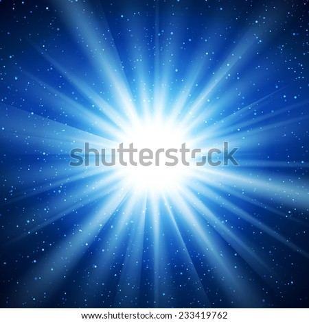 Abstract glowing vector background. Star light with flares and bokeh. Holidays magical pattern - stock vector