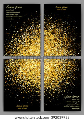 Abstract gold background gold background card stock vector 2018 abstract gold background gold background for card gold glitter business card set colourmoves