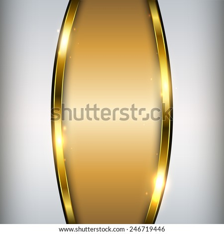 Abstract gold background, shiny and glossy vector illustration.  - stock vector
