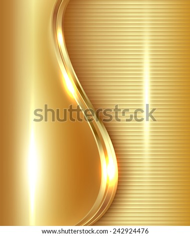 Abstract gold background, vector illustration. - stock vector