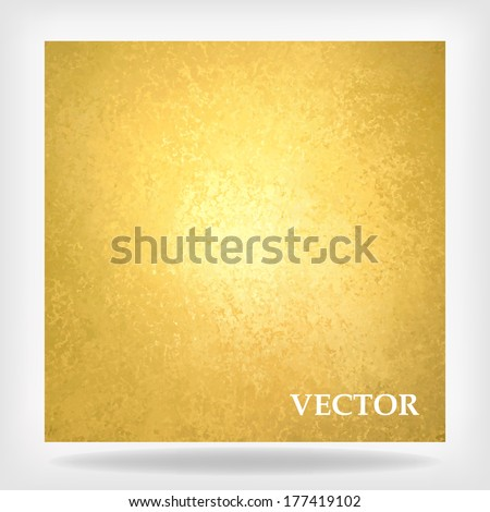 abstract gold background vector, warm yellow color tone, vintage background texture faint grunge sponge design border, yellow paper or gold foil, gold leaf, golden anniversary announcement, luxury ad - stock vector