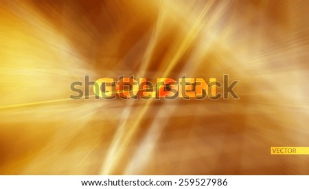 Abstract gold background with blurred golden threads. Vibrant vector pattern - stock vector