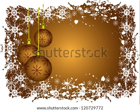Abstract gold christmas baubles background - stock vector